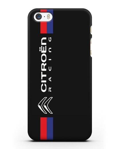 Чехол с логотипом Citroen Racing силикон черный для iPhone 5/5s/SE