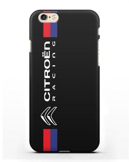 Чехол с логотипом Citroen Racing силикон черный для iPhone 6s