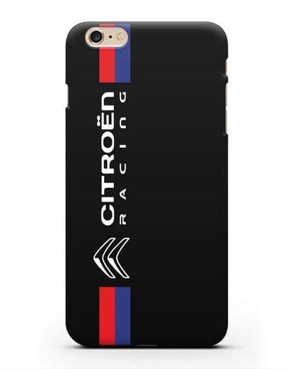 Чехол с логотипом Citroen Racing силикон черный для iPhone 6s Plus