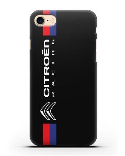 Чехол с логотипом Citroen Racing силикон черный для iPhone 7