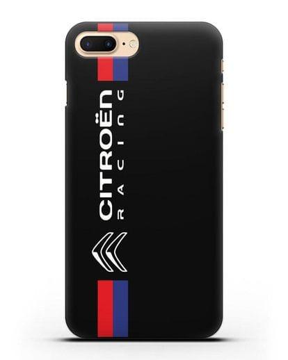 Чехол с логотипом Citroen Racing силикон черный для iPhone 8 Plus