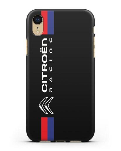 Чехол с логотипом Citroen Racing силикон черный для iPhone XR