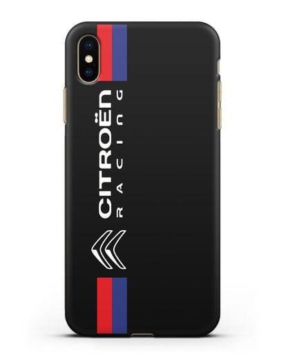 Чехол с логотипом Citroen Racing силикон черный для iPhone XS Max