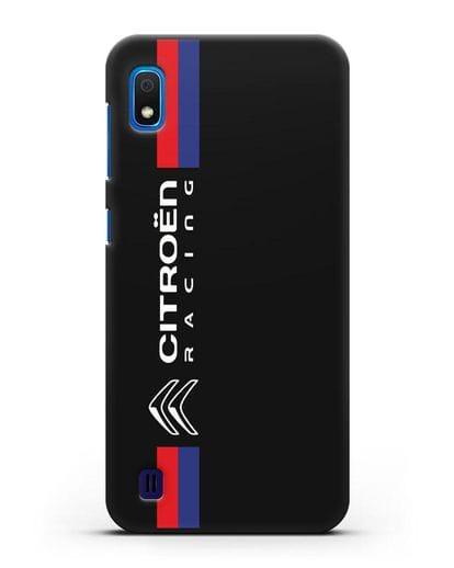 Чехол с логотипом Citroen Racing силикон черный для Samsung Galaxy A10 [SM-A105F]