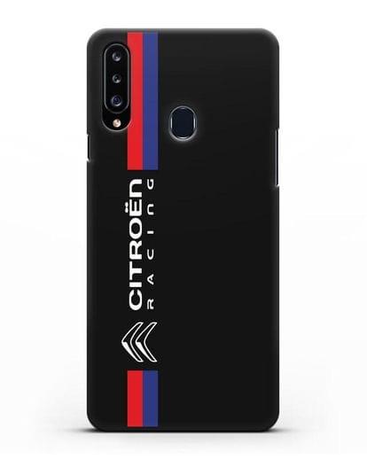 Чехол с логотипом Citroen Racing силикон черный для Samsung Galaxy A20s [SM-A207FN]
