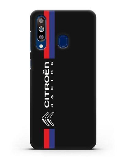 Чехол с логотипом Citroen Racing силикон черный для Samsung Galaxy A60 [SM-A606F]