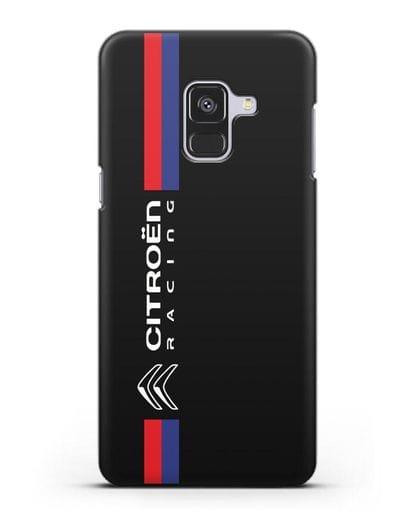 Чехол с логотипом Citroen Racing силикон черный для Samsung Galaxy A8 [SM-A530F]