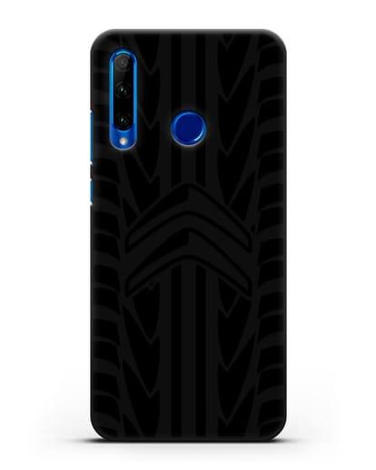 Чехол c эмблемой Citroen с протектором шин силикон черный для Honor 10i