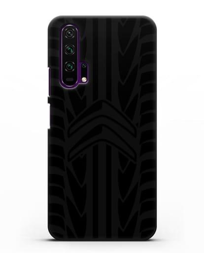 Чехол c эмблемой Citroen с протектором шин силикон черный для Honor 20 Pro