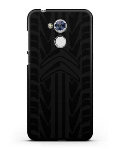 Чехол c эмблемой Citroen с протектором шин силикон черный для Honor 6A