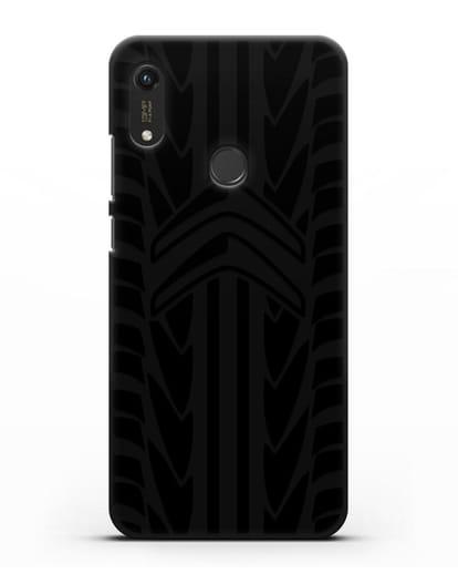 Чехол c эмблемой Citroen с протектором шин силикон черный для Honor 8A Prime