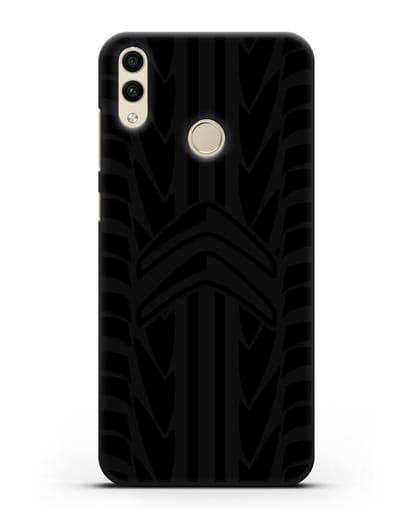 Чехол c эмблемой Citroen с протектором шин силикон черный для Honor 8C