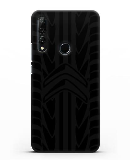 Чехол c эмблемой Citroen с протектором шин силикон черный для Honor 9X