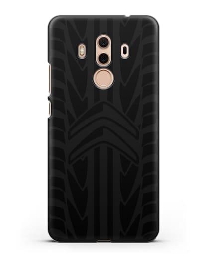 Чехол c эмблемой Citroen с протектором шин силикон черный для Huawei Mate 10 Pro