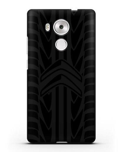 Чехол c эмблемой Citroen с протектором шин силикон черный для Huawei Mate 8