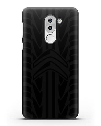 Чехол c эмблемой Citroen с протектором шин силикон черный для Huawei Mate 9 Lite