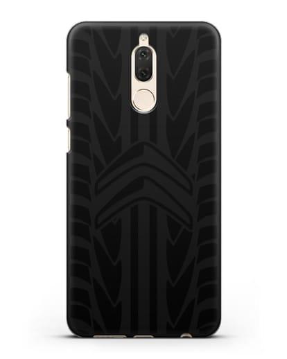 Чехол c эмблемой Citroen с протектором шин силикон черный для Huawei Nova 2