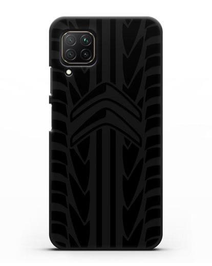 Чехол c эмблемой Citroen с протектором шин силикон черный для Huawei Nova 7i