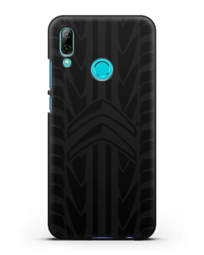 Чехол c эмблемой Citroen с протектором шин силикон черный для Huawei P Smart 2019