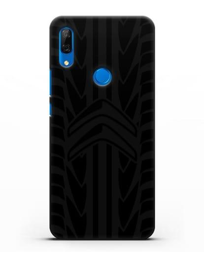 Чехол c эмблемой Citroen с протектором шин силикон черный для Huawei P Smart Z
