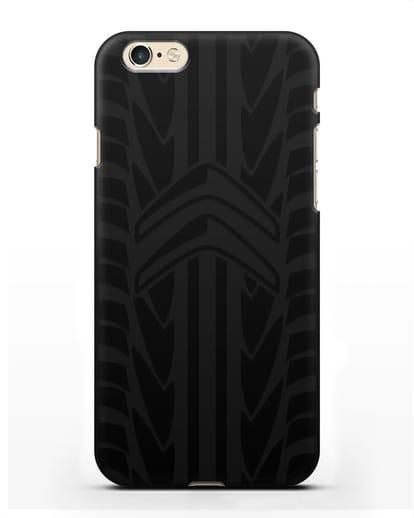 Чехол c эмблемой Citroen с протектором шин силикон черный для iPhone 6s