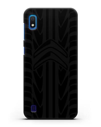 Чехол c эмблемой Citroen с протектором шин силикон черный для Samsung Galaxy A10 [SM-A105F]