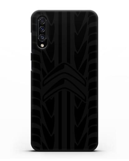 Чехол c эмблемой Citroen с протектором шин силикон черный для Samsung Galaxy A30s [SM-A307FN]