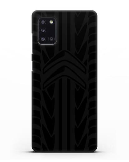 Чехол c эмблемой Citroen с протектором шин силикон черный для Samsung Galaxy A31 [SM-A315F]