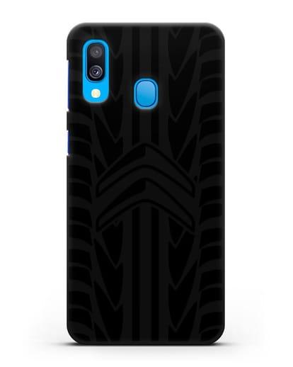 Чехол c эмблемой Citroen с протектором шин силикон черный для Samsung Galaxy A40 [SM-A405F]