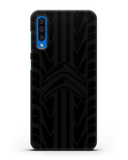 Чехол c эмблемой Citroen с протектором шин силикон черный для Samsung Galaxy A50 [SM-A505F]