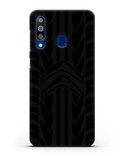 Чехол c эмблемой Citroen с протектором шин силикон черный для Samsung Galaxy A60 [SM-A606F]