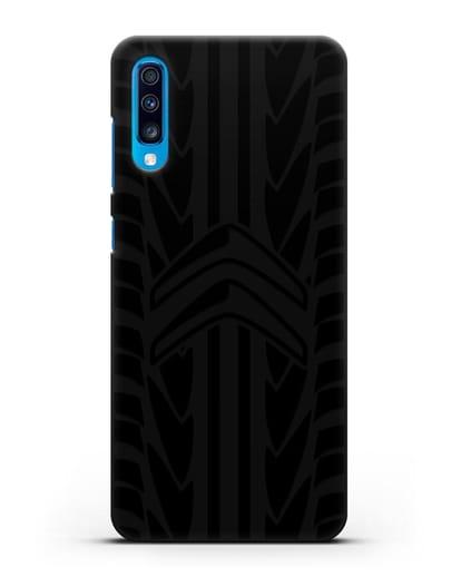 Чехол c эмблемой Citroen с протектором шин силикон черный для Samsung Galaxy A70 [SM-A705F]