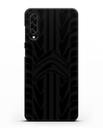 Чехол c эмблемой Citroen с протектором шин силикон черный для Samsung Galaxy A70s [SM-A707F]