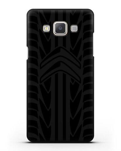 Чехол c эмблемой Citroen с протектором шин силикон черный для Samsung Galaxy A7 2015 [SM-A700F]