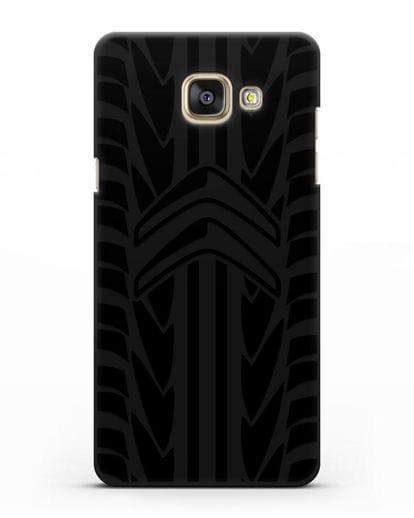 Чехол c эмблемой Citroen с протектором шин силикон черный для Samsung Galaxy A7 2016 [SM-A710F]