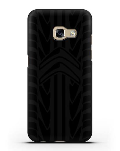 Чехол c эмблемой Citroen с протектором шин силикон черный для Samsung Galaxy A7 2017 [SM-A720F]