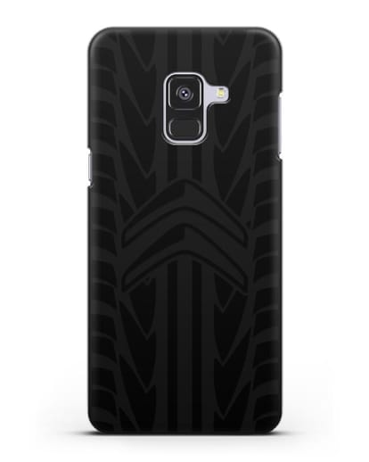 Чехол c эмблемой Citroen с протектором шин силикон черный для Samsung Galaxy A8 [SM-A530F]