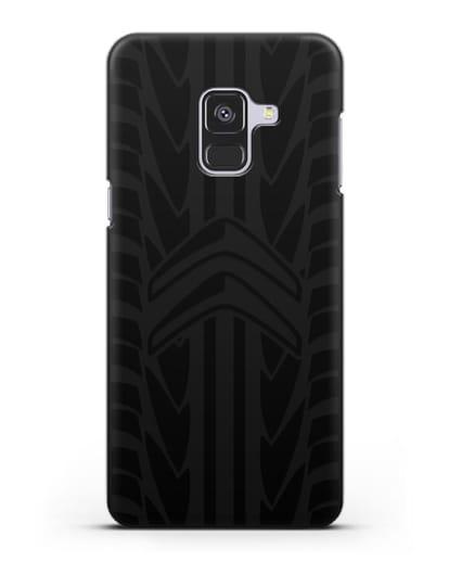 Чехол c эмблемой Citroen с протектором шин силикон черный для Samsung Galaxy A8 Plus [SM-A730F]