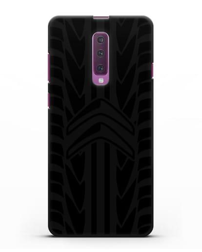 Чехол c эмблемой Citroen с протектором шин силикон черный для Samsung Galaxy A90 [SM-A908N]