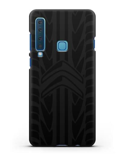 Чехол c эмблемой Citroen с протектором шин силикон черный для Samsung Galaxy A9 (2018) [SM-A920]