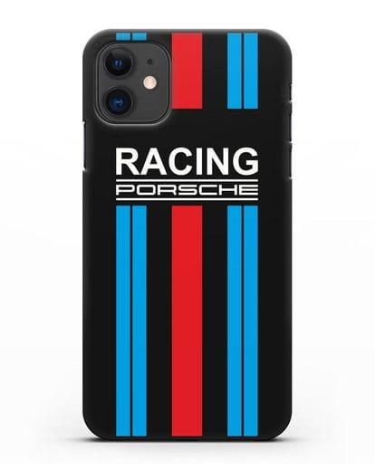 Чехол с логотипом Porsche Racing силикон черный для iPhone 11
