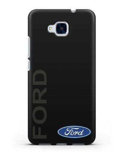 Чехол с надписью Ford и логотипом силикон черный для Honor 5C