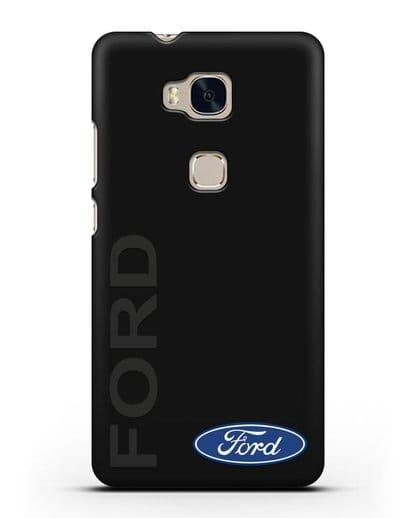 Чехол с надписью Ford и логотипом силикон черный для Honor 5X
