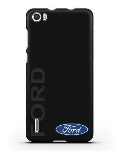 Чехол с надписью Ford и логотипом силикон черный для Honor 6