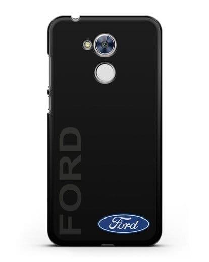 Чехол с надписью Ford и логотипом силикон черный для Honor 6A