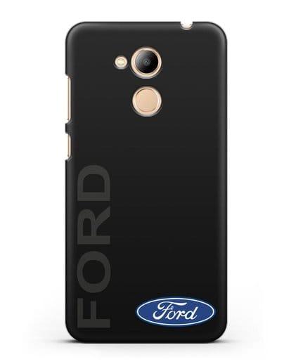 Чехол с надписью Ford и логотипом силикон черный для Honor 6C Pro