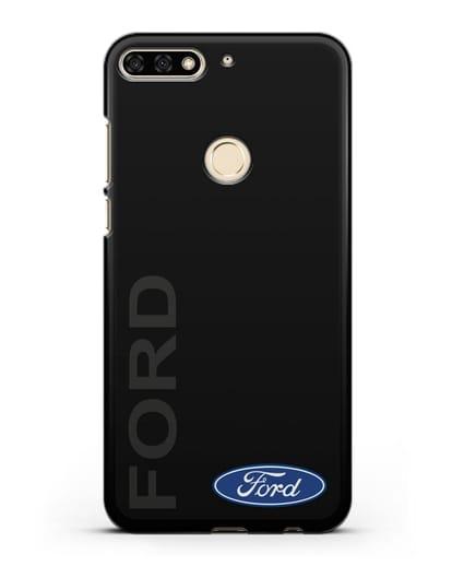 Чехол с надписью Ford и логотипом силикон черный для Honor 7C