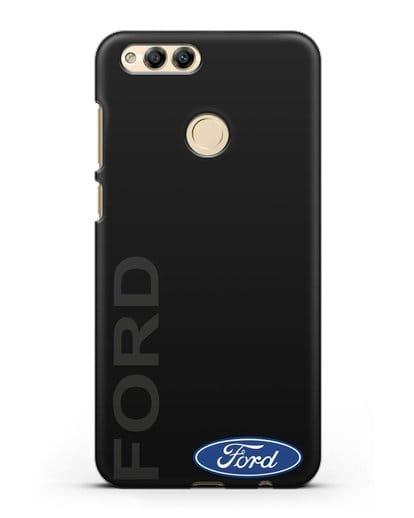 Чехол с надписью Ford и логотипом силикон черный для Honor 7X