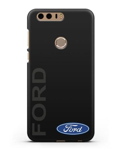 Чехол с надписью Ford и логотипом силикон черный для Honor 8