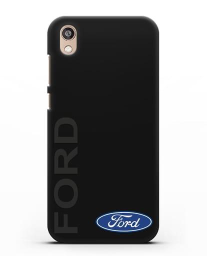 Чехол с надписью Ford и логотипом силикон черный для Honor 8S Prime